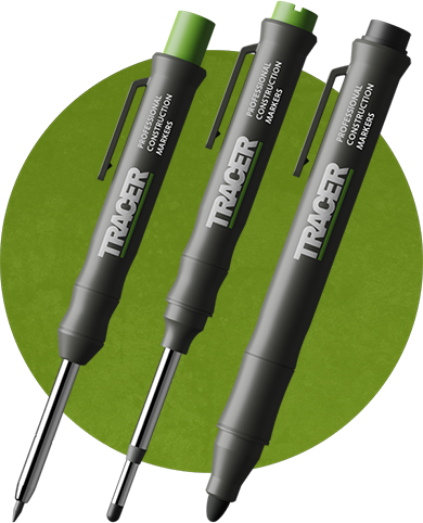 Tracer Deep Hole Pencil, Deep Hole Marker and Clog Free Marker
