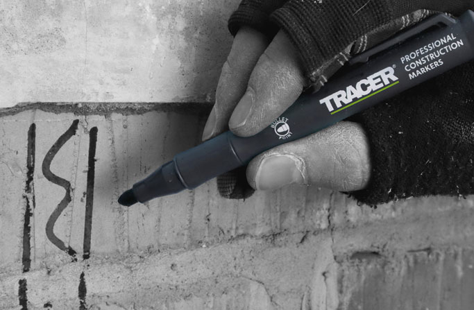 Tracer Clog Free Marker writing on rough surface