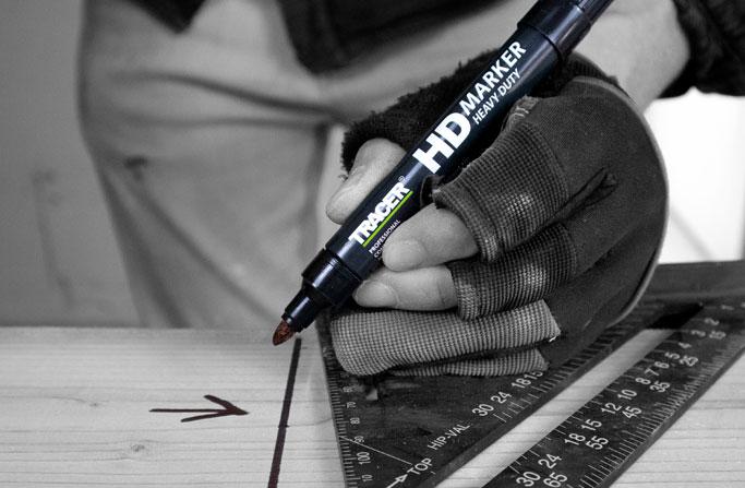 Heavy Duty Marker used on wood