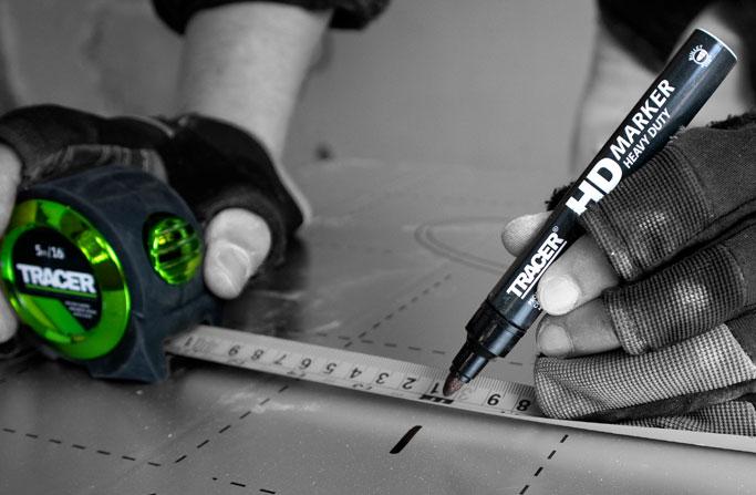 Heavy Duty Marker used on installation board