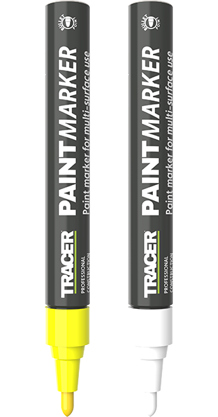 Tracer Paint Markers yellow and white