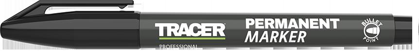 Tracer Permanent Marker Black lid