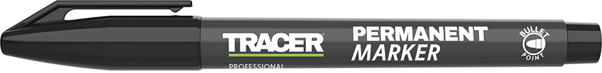 Tracer Permanent Marker Black APM1 with lid