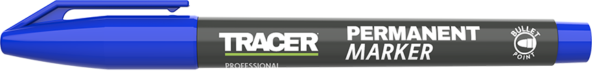 Tracer Permanent Marker Blue APM2 with lid