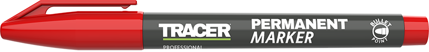 Tracer Permanent Marker Red APM3 with lid